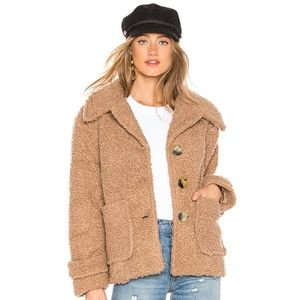 Free People So Soft Faux Shearling Teddy coat